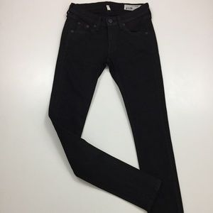 RAG & BONE Coated Black Slim Fit Skinny Jeans